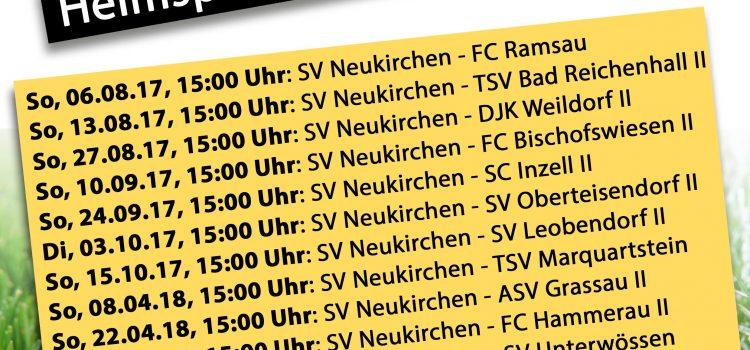 Heimspiele der Herren Saison 2017/18