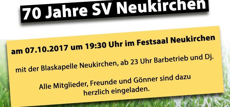 70 Jahre Feier SV Neukirchen