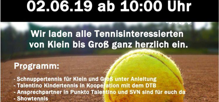 Einladung zum Tag der offenen Tür – Abteilung Tennis